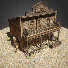 bank western old model - Old Western Bank. Play Houses, Bird Houses, Forte Apache, Westerns, Old Western Towns, Popsicle Stick Houses, Old West Town, Planet Coaster, Saloon