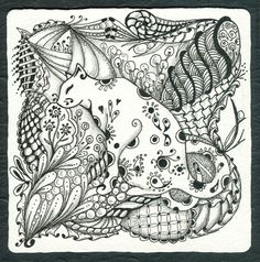 Zentangle Patterns Samples | Or Zentangle Pen Ink Drawing Meditation Zen Cat Cats | eBay