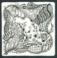 Zentangle Patterns Samples | Or Zentangle Pen Ink Drawing Meditation Zen Cat Cats | eBay
