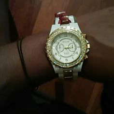 Watch Cute gold and white watch Accessories Watches