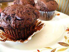 dorie greenspan's chocolate chocolate chunk muffins