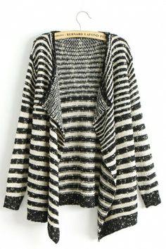 Stripe Blanket Wrap Sweater