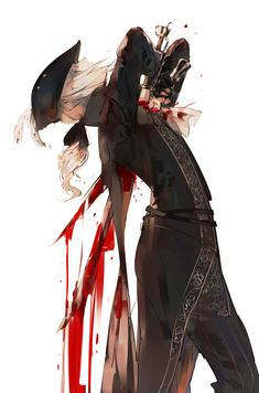 Bloodborne, Lady Maria of the Astral Clocktower Dark Blood, Old Blood, Character Concept, Character Art, Arte Dark Souls, Soul Saga, Bloodborne Art, Bear Art, Dark Anime