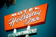 Items similar to Motel Holiday Inn Vintage Neon Sign - San Bernardino - Route 66 Wall Art - Retro Type - Colorful Home Decor - Fine Art Photography on Etsy