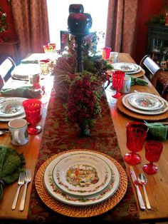 Tablescape---Far Above Rubies: I'm back with a winter wonderland!!!