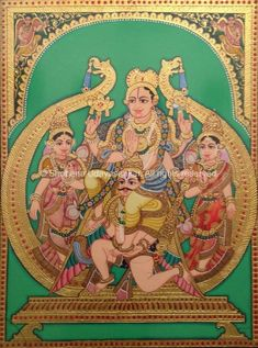 Gallery - Mysore Paintings Mysore Painting, Tanjore Painting, Krishna Painting, Outline Drawings, Art Drawings, Hanuman Images, Apocalypse Art, Indian Art Paintings, Painting Gallery