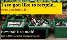 Drinkaware campaign. If their target audience was the middle class, they did a good job with the copy and visuals