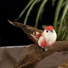 6PCS Artificial Realistic Raven Birds Garden Tree Wedding Decor Photo Props