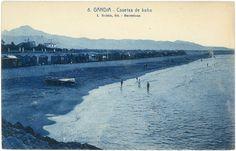 Casetas de baño, playa de Gandía