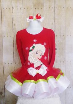 Christmas Frozen Insp tutu set Frozen Ice Princess in by MommaMays