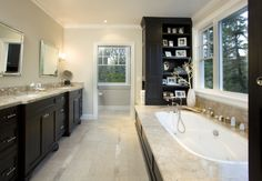 use of black in bathroom