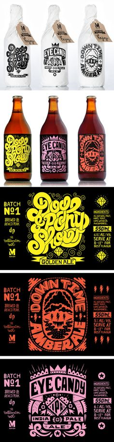 "Craft Beer Maven Craft Beer * Designed by Rudi de Wet. Assorted ""eye candy"" and topography PDMaven Craft Beer * Designed by Rudi de Wet. Assorted ""eye candy"" and topography PD Craft Beer Brands, Craft Beer Labels, Wine Labels, Bottle Labels, Beverage Packaging, Bottle Packaging, Coffee Packaging, Food Packaging, Candy Packaging"