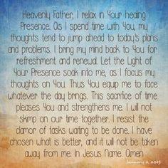 Bakers' Blessings - Jesus Calling prayer for Jan 2