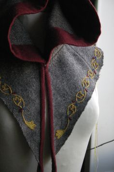 "Viking Hoods - Simply a folded rectangle and 2 squares. ""Sew"" Easy ..."