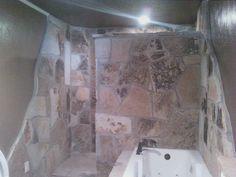 Custom Rock Shower Rock Shower, Showers, Shower Ideas, Bathtub, Bathroom, Design, Standing Bath, Washroom, Bath Tub