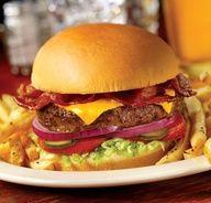 A Bacon Cheeseburger sounds so good right now! Disney World Restaurants, Disney Resorts, Great Recipes, Favorite Recipes, Caribbean Beach Resort, Disney Food, Walt Disney, Disney Recipes, Kitchens