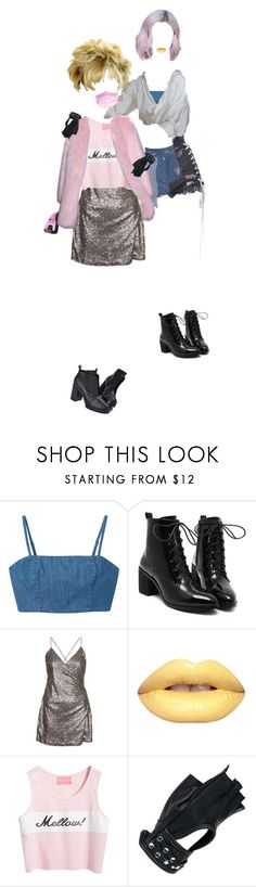 """""""just couple things"""" by anekochan on Polyvore featuring Monki, Topshop, Chicnova Fashion, Hello Kitty, Wilsons Leather and Cheap Monday"""