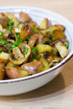 Pommes de terre sarladaises aux champignons  Hummm ! j'ai faim