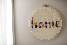 This is a relaxing craft that doubles as an adorable wall piece