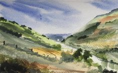 Landscape ORIGINAL Watercolour artwork 'River Valley' view here: https://www.etsy.com/uk/listing/573259870/landscape-original-watercolour-artwork?ref=shop_home_active_1