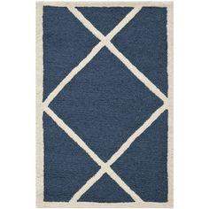 Safavieh Handmade Cambridge Moroccan Navy Wool Rug (2' x 3')