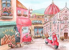 Travel Themed Nursery Florence Italy Italian by NurseryRembrandts