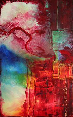 "Saatchi Online Artist: Michael Lauer; Acrylic, 2009, Painting ""PARALLELREALITAET II"""