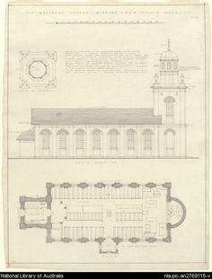 plan - St. Matthew's Church, Windsor, New South Wales
