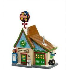 Department 56 Disney Village Goofy's Gas Station Lit House, Disney Christmas Village, Department 56 Christmas Village, Mickey Mouse Christmas, Christmas Village Display, Christmas Villages, Christmas Decorations, Christmas Stuff, Merry Christmas, Disney Holidays