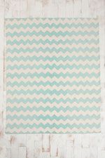 Zig-Zag Rug in Mint at Urban Outfitters