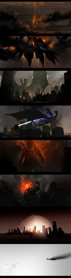 Godzilla Vs, Storyboard, Cinematography, Great Britain, Concept Art, Pokemon, Fan Art, Artwork, Poster