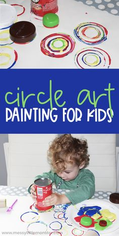 Circle Art Painting for Toddlers