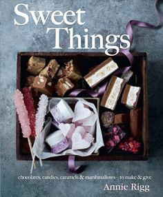 Buy Sweet Things by Annie Rigg at Mighty Ape NZ. From traditional toffee, fluffy clouds of marshmallow and creamy maple and pecan fudge to sherbet with lolly dippers, the recipes in Sweet Things are . Nougat Bar, Yummy Treats, Sweet Treats, Chocolate Caramels, Chocolate Candies, Cocktail Desserts, Cookery Books, Peanut Butter Cups, Cookies And Cream