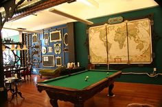 Now... if only I can translate this in to my home office... love the multiple chalkboards with ornate frames
