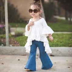 New Fashion 2016 Girls Dress Kids Clothes Fairy Style Wrinkle Free Ruffles Cotton Three Quarter Sleeves Casual Kids Girl Dress
