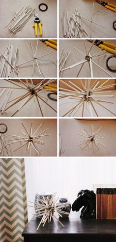 Sea Urchin Sculpture Made out of dowels!