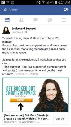 Live workshop ad