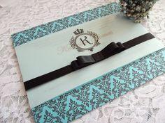 Convite 15 anos Debutante Provençal Azul Tiffany http://www.rosamia.com.br/pd-22fb6d-convite-cathelina.html