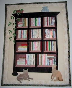 bookshelf quilt patterns | Bookcase Quilt from the Netherlands is Finished!