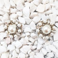 "Remember ladies, ""Pearls are always appropriate""! - Dressed up or dressed down, our Satement Stud Earrings make the perfect +1 for any gathering."