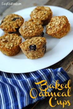 Baked Oatmeal Cups - Easy Real Food