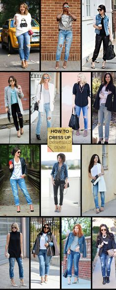 How to Dress Up Distressed Denim