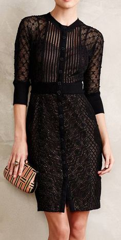 Mona Dress Simple Dresses, Pretty Dresses, Beautiful Dresses, I Love Fashion, Fashion Looks, Lace Dress Black, Playing Dress Up, I Dress, Cute Outfits