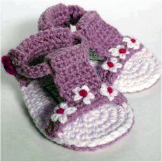 DIY- crochet baby sandals