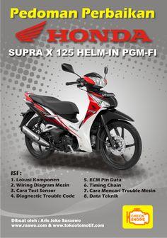 Pedoman Perbaikkan Sepeda Motor Honda Supra X 125  Berisi Pedoman Perbaikkan mesin ( Injeksi ) Sepeda Motor Honda Supra X 125