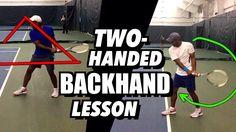 Tennis Lesson: Two Handed Backhand Technique - Drills and Tips Tennis Rules, Tennis Tips, Tennis Party, Tennis Bag, Tennis Clothes, Tennis Tournaments, Tennis Players, Tennis Techniques, How To Play Tennis