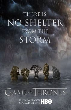"""""""There is no shelter from the storm"""" Season 3 Game of Thrones Poster by artist Jenny Slife at Deviant Art."""