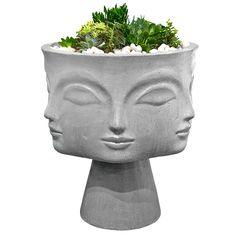 Inspired by the many muses of Picasso, this aerated cement piece is hand cast and sanded by artisans in the United States.