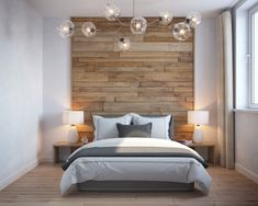 Concepts For Glorious Couple Bedroom Interior Design - Inspira Mode Scandi Bedroom, Modern Bedroom Design, Master Bedroom Design, Contemporary Bedroom, Home Decor Bedroom, Contemporary Kitchens, Modern Decor, Bedroom Ideas, Feature Wall Bedroom