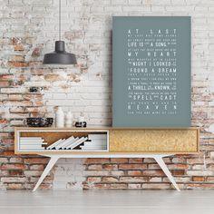 Etta James At Last Lyrics Love Song Wall Art Song by VelvetPrint